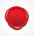 simple elegant red wax seal stamp vector image