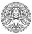 simple mandala shape for coloring mandala vector image