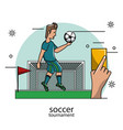 soccer tournament concept vector image