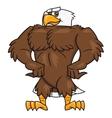 Strong eagle posing 2 vector image vector image