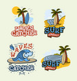 surfing style surf summer time beach life vector image vector image
