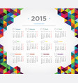 template design calendar 2015 vector image