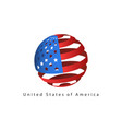 usa flag style design element logo template vector image vector image
