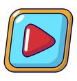video icon cartoon style vector image