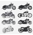 vintage motorcycle set vector image vector image