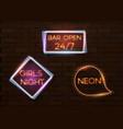 vintage neon banner template vector image
