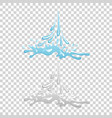 water and drop icon - blue wave and splashe vector image
