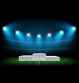 white illuminated sport podium soccer arena vector image