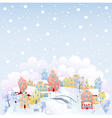 Winter town vector image