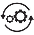 workflow icon on white background flat style vector image vector image