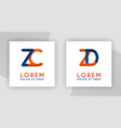 zc and zd 3d logo aplada logo for advertising