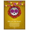Day Of The Dead Skull poster background vector image