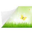 Landscape With Paper vector image