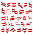 biggest collection of flag of Austria vector image