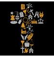christianity religion symbols in big cross eps10 vector image