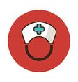 Nurse flat icon Medical vector image