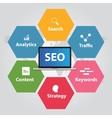SEO search engine optimization analytics traffic vector image