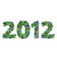 2012 christmas tree font vector image vector image