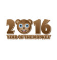 2016 year monkey chinese animal sign with vector image