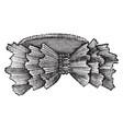 a ribbon shape vintage engraving vector image vector image