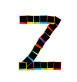 Alphabet Z with colorful polaroids vector image vector image