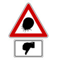 attention sign with optional label thumbs down vector image vector image
