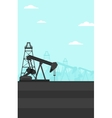 Background of oil derrick vector image vector image