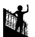 balcony wave silhouette vector image vector image