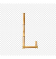bamboo letter l isolated on transparent background