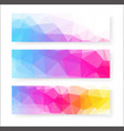 banner design abstract background vector image