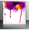 Banner with splash on abstract background vector image