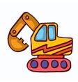 Big excavator cartoon collection stock vector image vector image