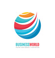 business world - logo template concept vector image vector image