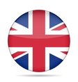 button with Great Britain flag vector image