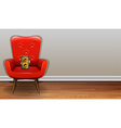 Chair and camera vector image vector image