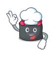 chef ikura character cartoon style vector image