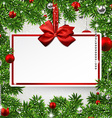 Christmas frame with invitation card vector image vector image