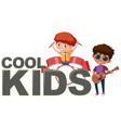 cool kids icon on white background vector image vector image