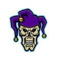 court jester skull mascot vector image vector image