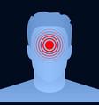 creative of pill target spot vector image