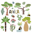 cute africa set vector image vector image