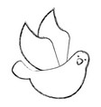 cute dove flying icon vector image vector image
