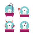 dog in grooming shop or salon vector image