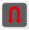 Double Back Arrow Rounded Square Button vector image vector image