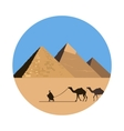 Egypt pyramid icon vector image vector image