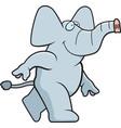elephant walking vector image vector image