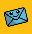 envelope comic character icon vector image vector image