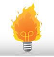 Fire Bulb vector image
