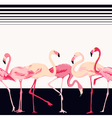 Flamingo Bird Background - Retro Seamless Pattern vector image vector image