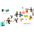 flat business financial concept vector image vector image